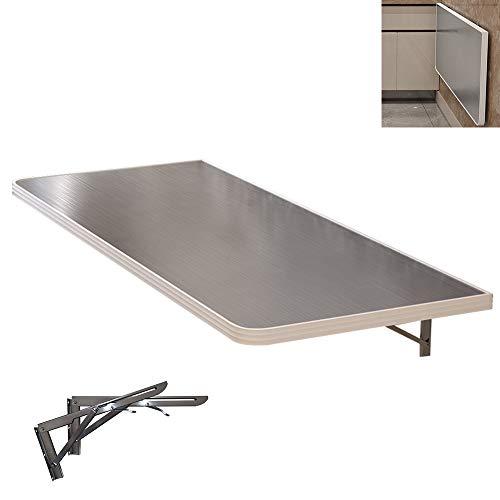 Wall-mounted table GCDW Mesa De Pared, Escritorio Flotante De Acero Inoxidable, Mesa...
