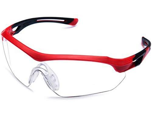 Óculos Proteção ESPORTIVO STEELFLEX FLORENCE VERMLEHO INCOLOR Esportivo AIRSOFT Teste Balístico Paintball Resistente A Impacto Ciclismo VOLEY FUTVOLEY ESPORTES DE AVENTURA
