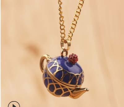 Yinew - Collana con ciondolo a forma di teiera, graziosa collana e orecchini a perno, idea regalo per donne