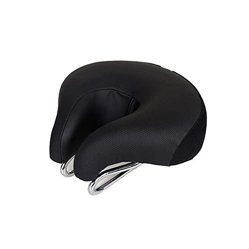 wuwu Selle Noire Haute résilience Ergonomique Soft Selle Molle for vélos Vélo Vélo Selle Noveless Selle Elastic Confortable Large (Color : Black)