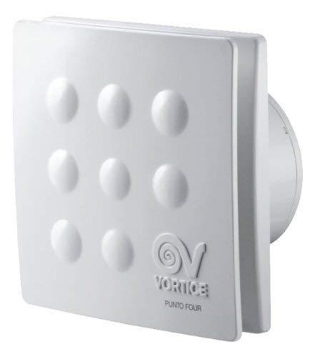 Vortice Aspiratore Elicoidale da muro per bagno MFO100 4 15W Portata 85m3 h Diametro Nominale 100 mm Senza Timer 11145 (1 Pezzo)