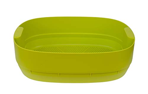 SUPERWURM Wurmbett für Design-Komposter, Wurmkomposter (Hellgrün), Farbe:Hellgrün