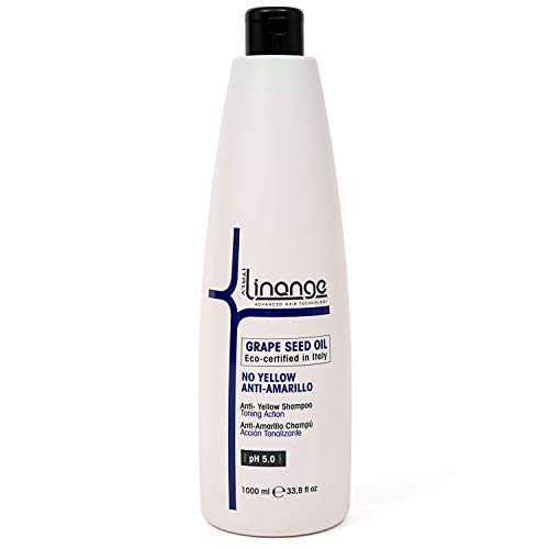 Linange No-Yellow Shampoo   Purple Shampoo for Blonde and Silver Hair   Toning Action for Women and Men 33.8 Oz
