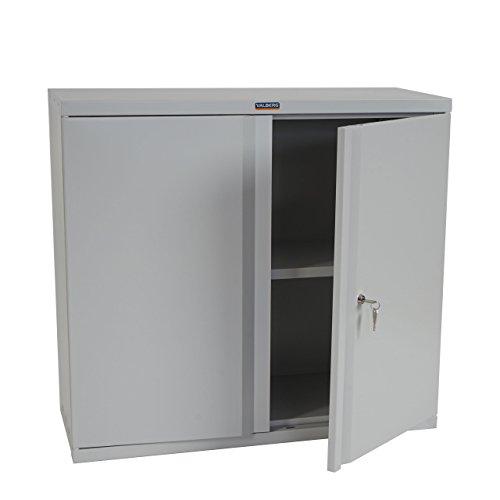 Valberg Aktenschrank T330, Metallschrank Büroschrank Stahlschrank, 2 Türen 84x92x37cm ~ grau