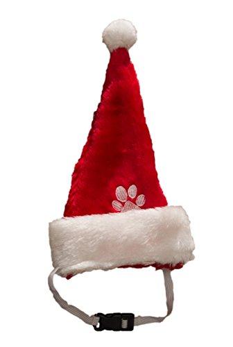 Ciffre Hund Weihnachtsmütze mit Gummiband Nikolausmütze Hund Santa Mütze Dog Für große Hunde