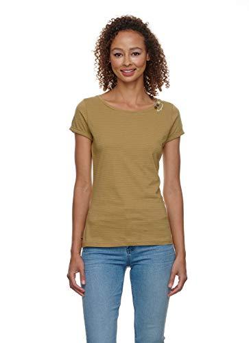 Ragwear Damen FLORAH C Organic T-Shirt Rundhals, Frauen Shirt,Oberteil,Kurzarm,Rundausschnitt,Regular Fit,0,XS