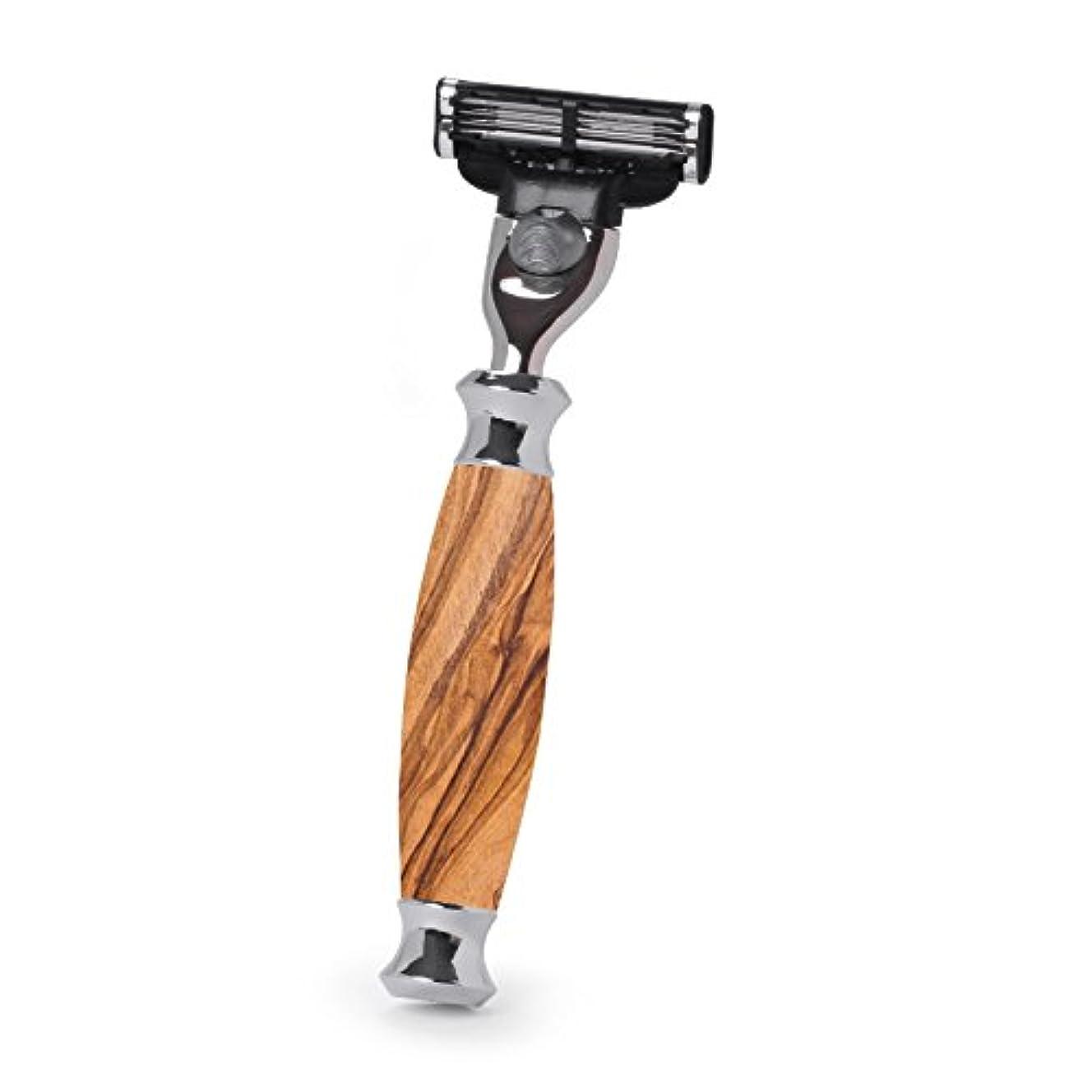 懇願する懇願する割り当てますHans Baier Exclusive - Razor Mach 3, olive wood