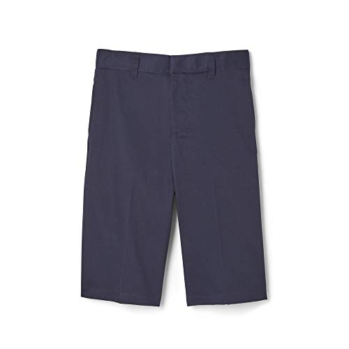 French Toast Little Boys' Basic Flat Front Short with Adjustable Waist, Navy, 4