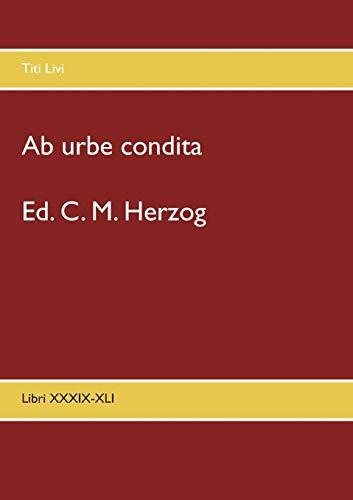 Ab urbe condita: Libri XXXIX-XLI