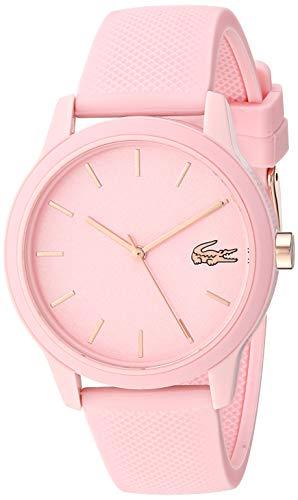 Lacoste Women's Ladies Lacoste.12.12 Quartz TR-90 and Rubber Strap Casual Watch, Color: Pink (Model: 2001065)