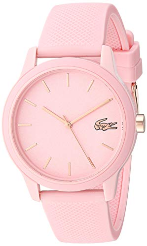 Lacoste TR90 Reloj de cuarzo con correa de goma, rosa, 17 (Modelo: 2001065)