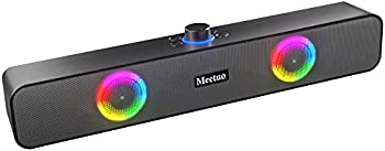 Bluetooth & Wired Computer Soundbar Speaker with Built in Microphone