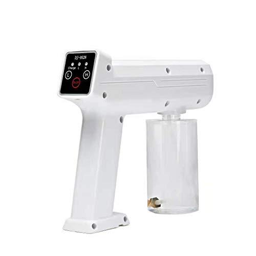 ZYC Fogger Machine Handheld Wiederaufladbares Zerstäubungssprühgerät Blaulicht-Dampfsprühpistole Touchscreen Drahtloses elektrisches Desinfektionssprühgerät 300ML Akku tragbar