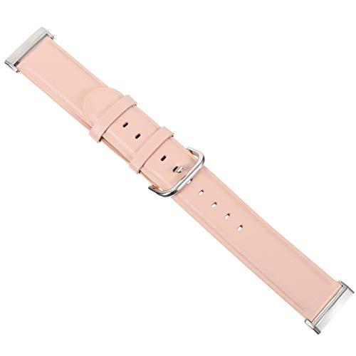 ibasenice Lederarmbänder Vintage Vintage-Armband mit Schnellverschluss Und Edelstahlschnallenarmband Kompatibel mit Fitbit Versa3/ Sense (Pink)