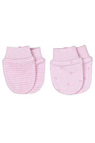 Sevira Kids - Moufles naissance coton bio - lot de 2 paires - gants anti griffures Dreams Rose