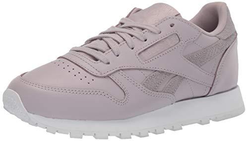 Reebok Women's Cl Lthr Ps Pastel Walking Shoe, Lavender Luck/White, 8 M US