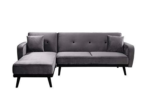 Canapé d'angle Noir Velours