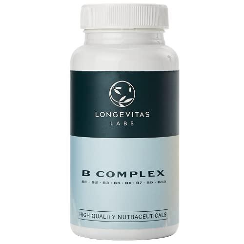 B Complex, complejo multivitámino grupo B de Longevitas Labs