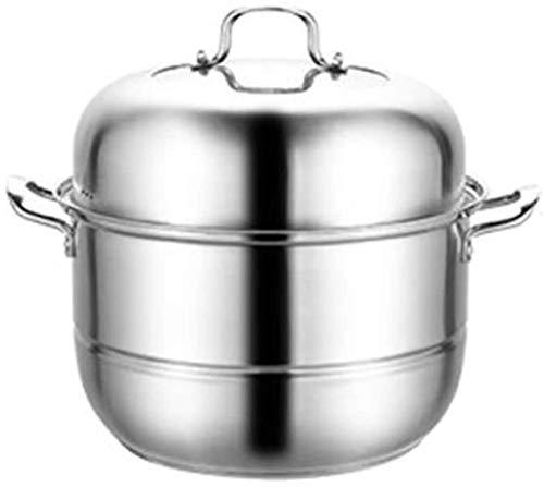 XY-M Vapor para cocinar Olla Caldo Pottant Food Vegetables 304 Acero Inoxidable Espesado Conexión de Suelo Inicio de la Inducción de Suelo 3 34 cm