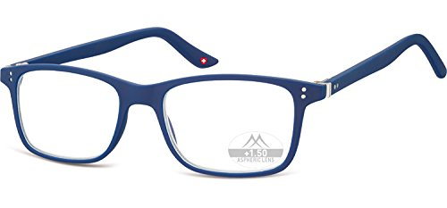 Montana Eyewear Sunoptic MR72B - Occhiali da lettura con astuccio morbido, 1,5 diottrie, colore: Blu