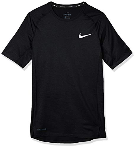 NIKE M NP Top SS Tight T-Shirt, Hombre, Black/White, S