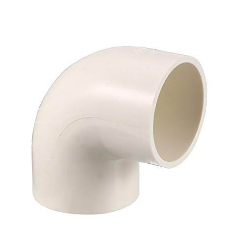 sourcing map Lot de 3 raccords de tuyau en PVC 40 mm coudé 90 degrés Blanc