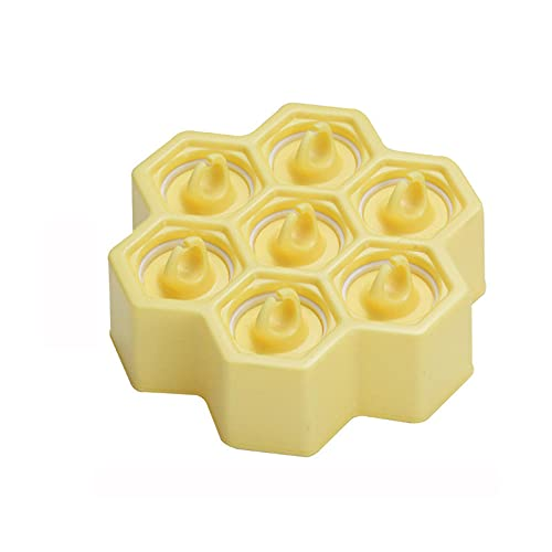 Yidieman 7 moldes para paletas de Helado para niños, moldes de Silicona para paletas, sin BPA, moldes para paletas de Hielo, fácil liberación, Reutilizables para Helado de Bricolaje, Amarillo
