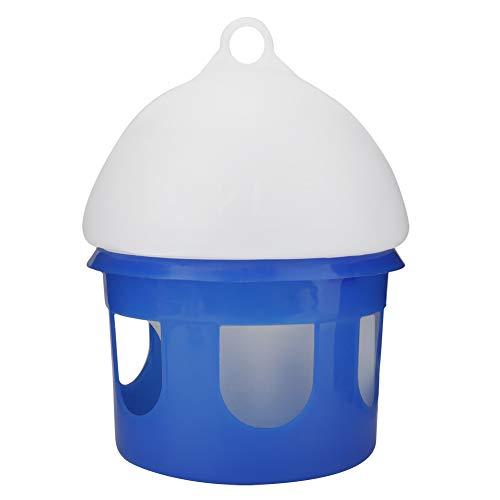 SOONHUA Automatischer Geflügelfutterautomat für Vögel Automatischer Vogeltaubenfutterautomat mit Großer Kapazität Wasserspender für Kleintiertauben (2L)