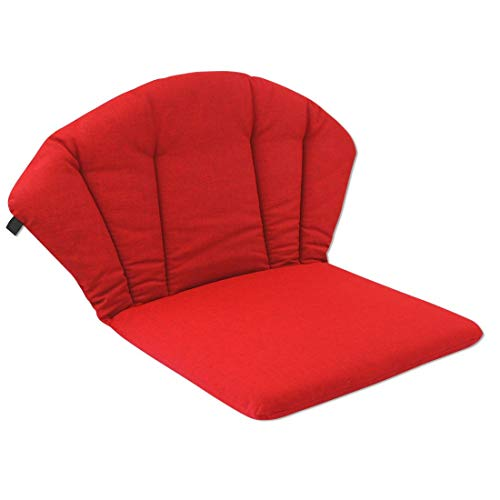 OUTLIV. Polsterauflage Elegance Royal Garden Niederlehner Auflage 75x48 cm Sitz- Rückenkissen Rot Sitzauflage für Gartensessel und Gartenstuhl