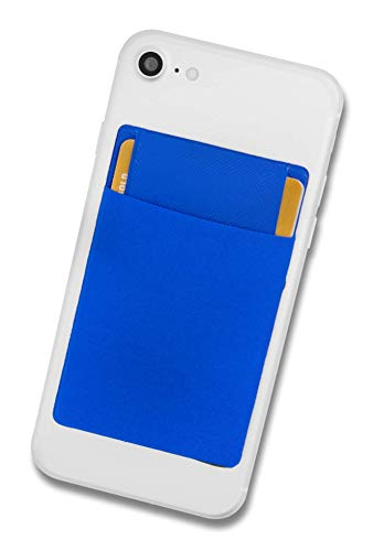 Cardsock - Reutilizable Porta Tarjetas - Tarjetero movil Adhesivo, Bloqueo RFID Cartera para movil con lengüeta de Cierre en Azul