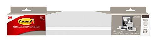 Command Picture Ledge, Quartz, 1-Ledge, 10-Medium Strips (HOM21Q-ES), Decorate Damage-Free