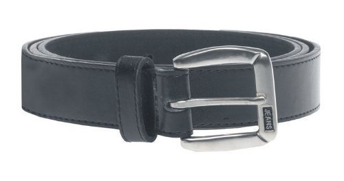 Duke London Petit Jeans Logo Ceinture (Ks812s) 3.5cm Large Noir Tour de Taille Size 42 To 64 - Noir, Taille 48 (pour 46-48 Pouces)