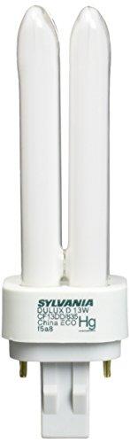Sylvania 21118 Compact Fluorescent 2 Pin Double Tube 3500K, 13-watt