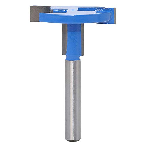 Yakamoz 1/4 Inch Shank Straight T-Slot & T-Track Slotting Router Bit Wood Groove Milling Cutter Slatwall Groove Forming Woodworking Tool