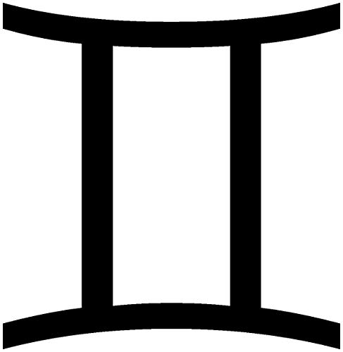 Samunshi® Aufkleber Sternzeichen Zwillinge für Auto Motorrad in 9 Größen und 25 Farben (15x15cm schwarz)