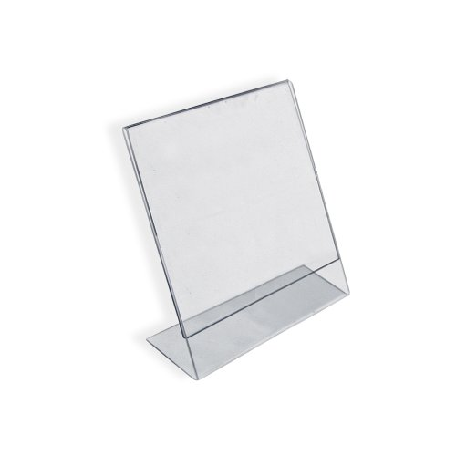 Azar 112741 Vertical Slanted, L-Shape 2-Inch Width by 3-Inch Height Acrylic Sign Holder, 10-Piece Set