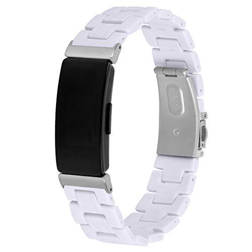 """MVRYCE Inspire 2 Resin Armband, Slim Resin Zubehör Armband 5,5""""-7,87"""" Verstellbare Ersatzbänder Leichte wasserdichte Fitness Armband Kompatibel mit Inspire 2 Smart Watch für Damen Männer (A01)"""