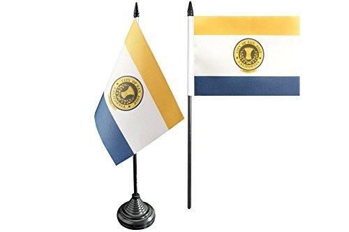 Flaggenfritze® Tischflagge USA City of San José - 10 x 15 cm