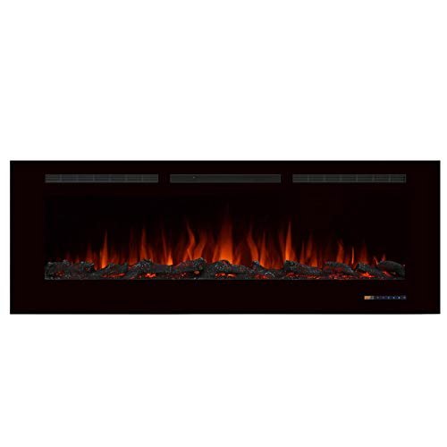 Valuxhome Electric Fireplace, 60 Inches Fireplace, Recessed Fireplaces for Living Room Electric with...