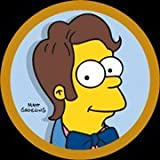 Simpsons Homer With Hair Button SB961
