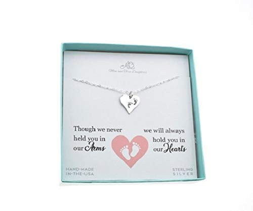 """Baby Footprint Women's Heart Charm Pendant Sterling Silver 