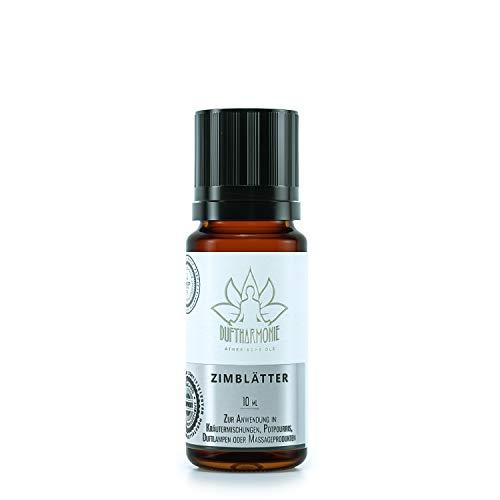 Ätherische Öle von DuftHarmonie | 10ml Duftöle für Diffuser, Duftlampfen | 100% Naturrein Essential Oil | Pflanzliche Aromatherapie für Luftbefeuchter, Massagen, Enstpannung (Zimtblätter)