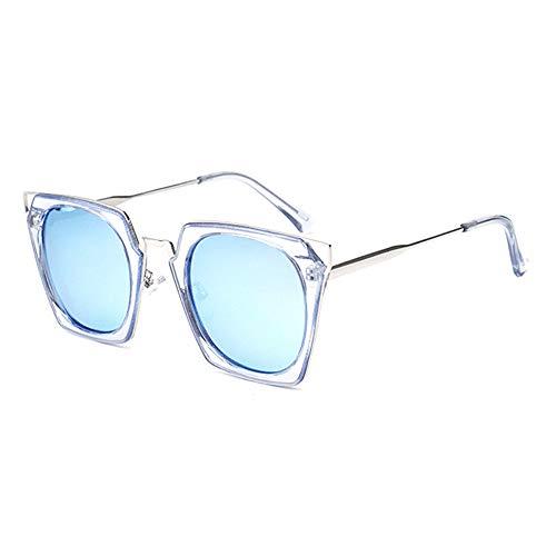 ZHHk Gafas de Sol Nuevas Gafas De Sol Polarizadas for Damas Gafas De Sol Transparentes Cuadradas De Color Transparente con Protección UV400 (Color : Blue)
