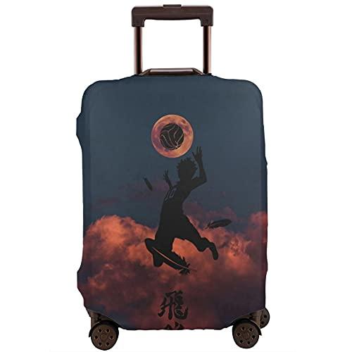 Anime Haikyuu Koffer-Schutztasche, waschbar, 3D-Druck, 4 Größen für die meisten Gepäck, Schutztasche, Reißverschluss