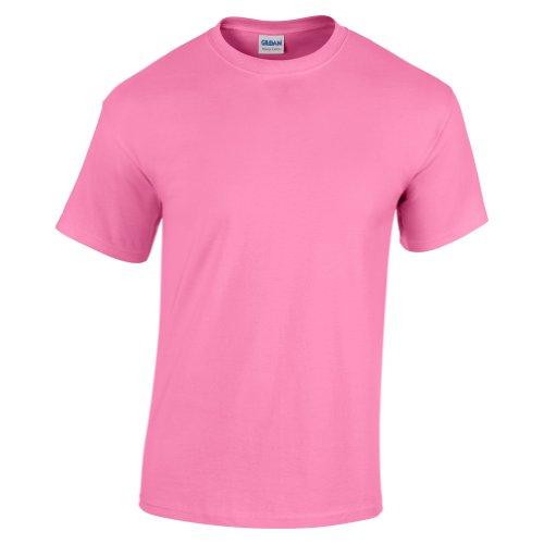 Gildan Kinder Unisex T-Shirt mit Rundhalsausschnitt, kurzärmlig (XS) (Azalee)