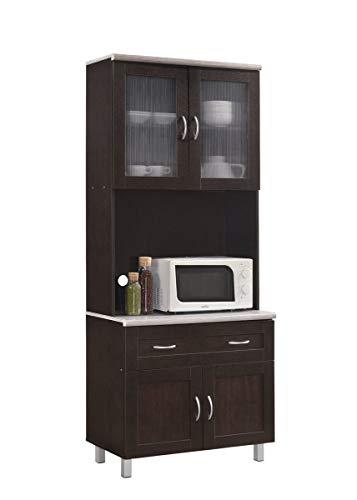 Hodedah Kitchen Cabinet, Chocolate