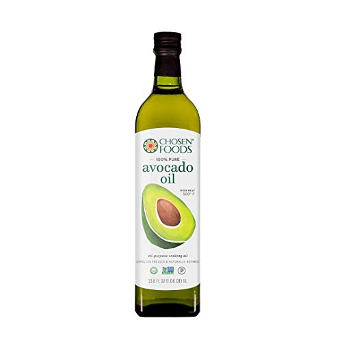 Chosen Foods 100% Pure Avocado Oil 1 L (2 Pack), Non-GMO, for High-Heat Cooking, Frying, Baking,...