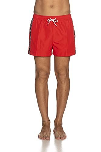 Calvin Klein Short Drawstring Costume a Pantaloncino, Rosso Fierce, M Uomo