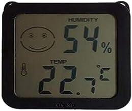 RETYLY HigróMetro Digital TermóMetro de Interior Temperatura e HigróMetro TermóMetro de Sala de Vigilancia HigróMetro de Pantalla Negro