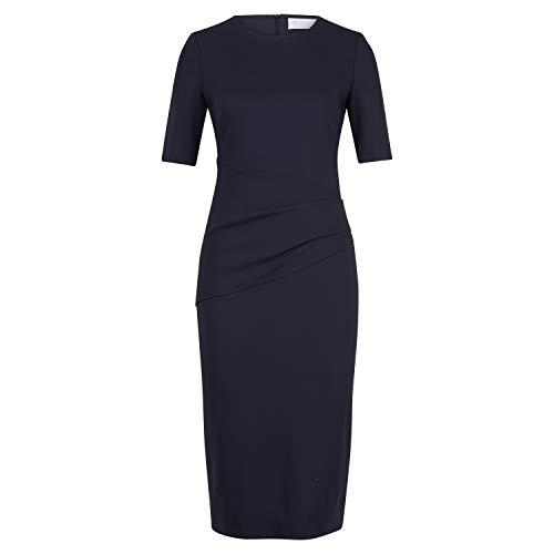 BOSS Kleid 'Deniba' mit Drapierung blau (466 Open Blue) 38